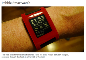 Pebble smartwatch - jon crel