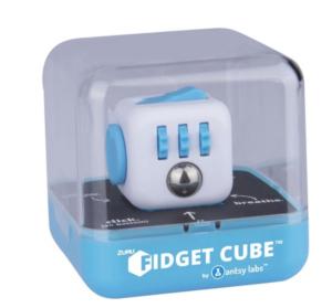 Blauwe fidget cube